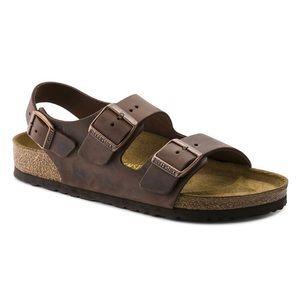 Birkenstock Milano Oiled Leather Slingback Sandal